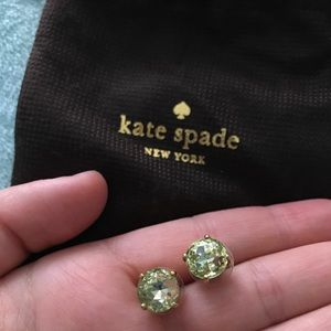 Kate Spade Earrings (Studs) - Light Green